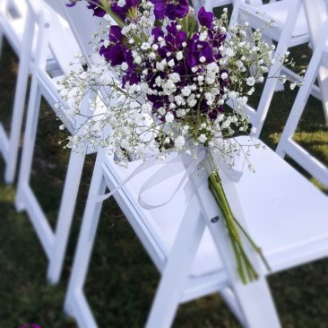 Purple & White Chair Ties