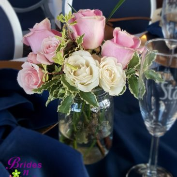 Mason jars with Roses