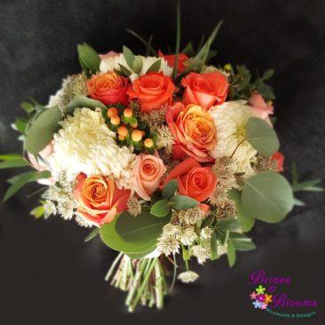roses, astrantia, mums