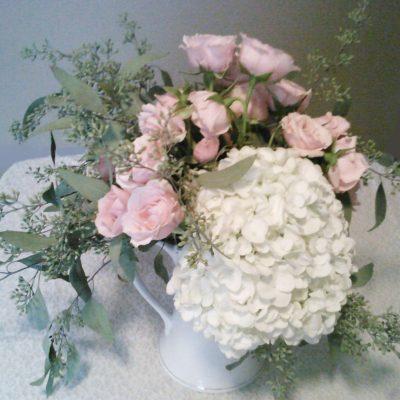 Hydrangea & Rose Teapot design