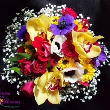 Anemone & Orchid Bouquet