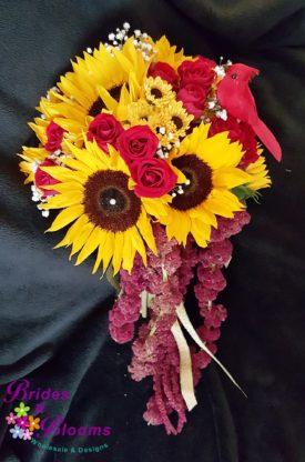 Sunflower, Rose, Amaranthus Bouquet