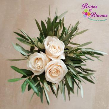 Roses & Feather Eucalyptus Bouquet