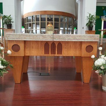 Altar Decor in white