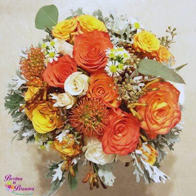 Brides Bouquet Orange & Yellow