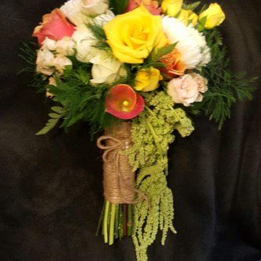 Mixed Flowers & Hanging Amaranthus Bouquet
