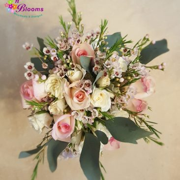 Blush & White Greenery Bouquet