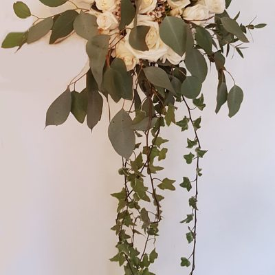 White with Trailing Ivy Bouquet