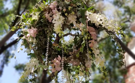 Greenery & Flower Chandelier