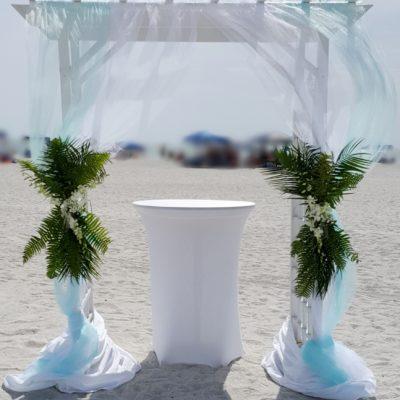 Beach Arch w/ Greenery