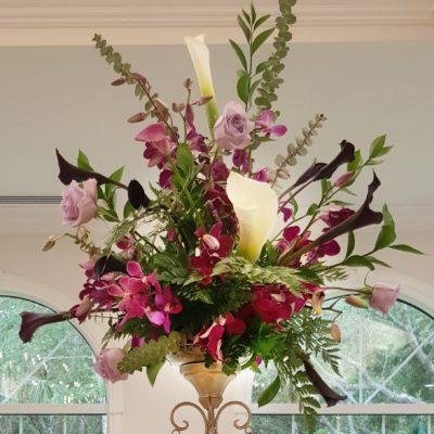 Altar Arrangement with Callas, Mini Callas, Roses & Orchids