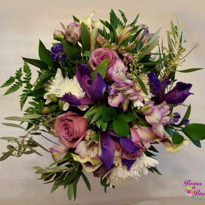 Purple and Lavender Brides Bouquet