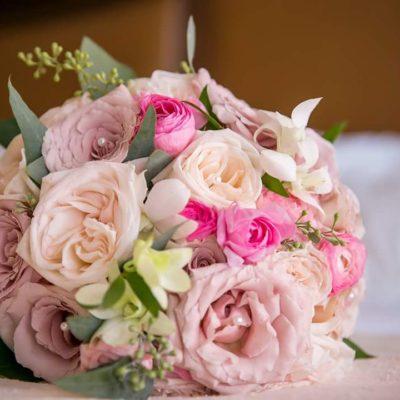 Garden Roses, Ranunculus, Freesia, Spray Roses
